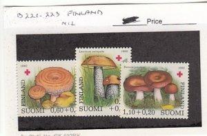 J25762  jlstamps 1980 finland set mnh #b221-3 mushrooms all checked