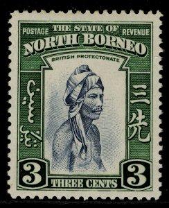 NORTH BORNEO GVI SG305, 3c slate-blue & green, M MINT.