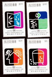 Hong Kong 570-573 Mint NH MNH World Environment Day!