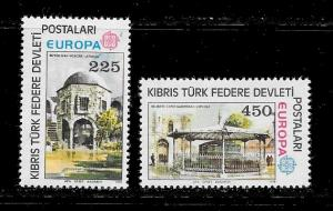 TURKEY in CYPRUS Europa Sc#55-56 Mint Never Hinged Complete Set