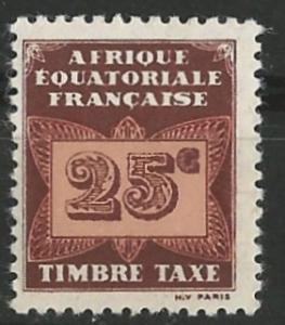 French Equatorial Africa # J4  Postage Due - Butterfly 25c (1) Unused VF