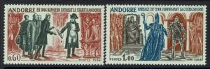 French Andorra SC# 159 and 160, Mint Lightly Hinged - Lot 120716