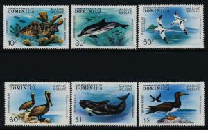 Dominica 618-24 MNH Fish, Coral, Marine Life, Birds