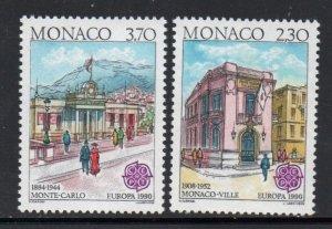 Monaco Sc  1716-17 1990 Europa stamp set mint  NH