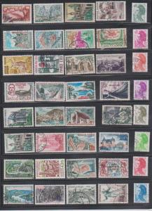 LOT OF DIFFERENT STAMPS OF FRANCE  USED (40) LOT#387