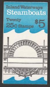 US BK166 2409a Steamboats 25c booklet 20 MNH 1989