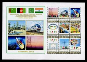 Postage Stamps TAPI (Turkmenistan to India) Pipeline Infrastructure Project #11