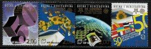 Bosnia, Croat #151 MNH Strip - Europa Stamps 50th Anniversary