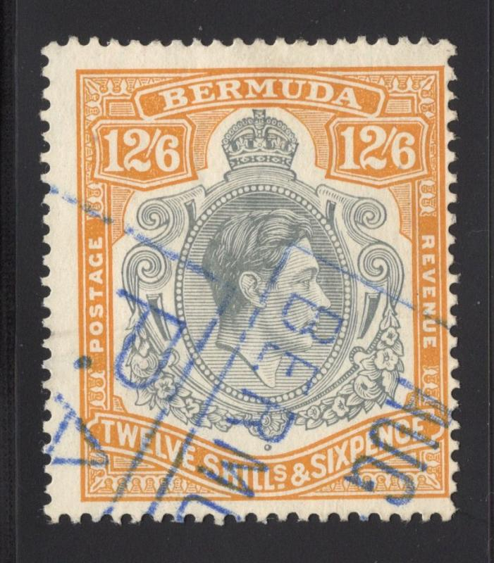 Bermuda #127c - 12 Sh. 6p. - Brown Orange & Gray - Perf. 14