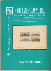 Raritan Auction #44,May 2010 Catalog,Wide Russia Postage & Worldwide Rarities