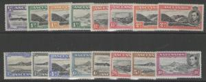 ASCENSION SG38b/47a 1938-53 DEFINITIVE SET MTD MINT