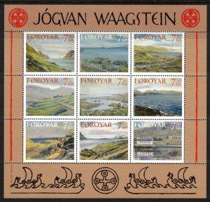 (CMA) Faroe Islands Scott #462 MNH Sheet of 9