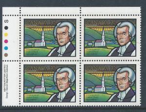 Canada #1226 UL PL BL Charles Inglis 37¢ MNH