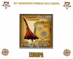 Sao Tome & Principe 2006 CONCORDE Europa s/s Imperforated Mint (NH)