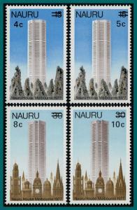 Nauru 1978 Nauru House Surcharges, MNH  #161-164,SG170-SG173