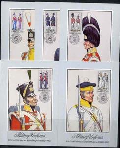 Ciskei 1983 British Military Uniforms #1 set of 5 each us...