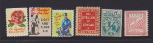 USA CINDERELLA STAMPS (6) DIFFERENT   LOT#C-142