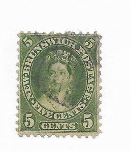 New Brunswick #8b Used - Stamp - CAT VALUE $22.50