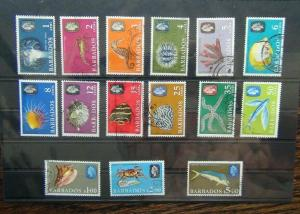 Barbados 1966 -1969 Marine Life set to $5 SG342 - SG355A Used