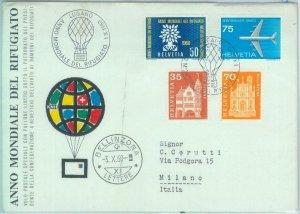 89744xx2  - SWITZERLAND - Postal History - SPECIAL BALLOON FLIGHT - 1960