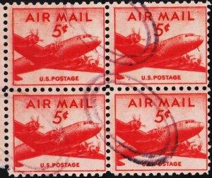 U.S.A. 1947 5c(Block of 4) S.G.A943 Fine Used