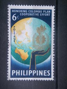 PHILIPPINES, 1961, used 6c, Colombo Plan. Scott 844