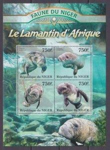 2013 Niger 2089-2092KL Marine fauna 12,00 €