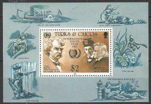 Turks & Caicos 675  MNH   International Youth Year