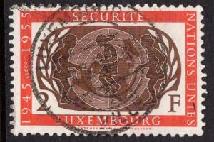 Luxembourg   #307  1955   used  U.N. anniversary  2f.