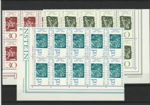 Mint Never Hinged Liechtenstein 1965 Stamp Set Blocks Ref 28593