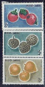 Cambodia, Scott #109-111; Fruits, MH