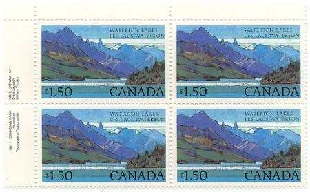 Canada USC #935&935i Mint UL Plate Block UR Stamp Without Beacon 3 Stamps With
