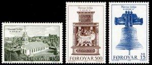 Faroe Islands #186-188 Fa181-183 MNH CV$6.25