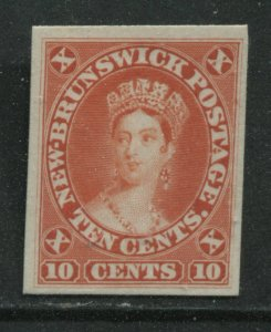 New Brunswick QV 1860 10 cents orange Plate Proof