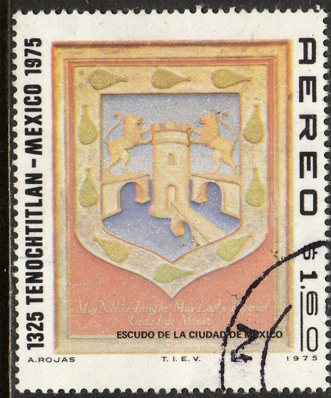MEXICO C465, 650th Anniv of Tenochtitlan (Mexico City). USED. F-VF. (1321)