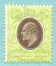 East Africa and Uganda #5, Mint Hinged
