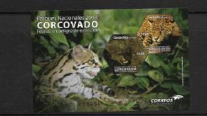 RO) 2014 COSTA RICA,  FELINES IN EXTINCTION DANGER, PUMA YAGOUAROUNDI-PANTHERA