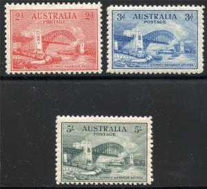 AUSTRALIA SCOTT# 130-32 SG# 141-43  MINT HINGED AS SHOWN RAY