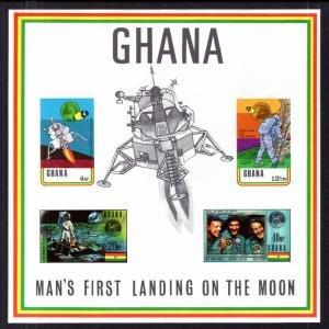 Ghana #389a s/sheet F-VF Mint NH ** Moon Landing
