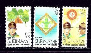 Surinam B208-10 MNH 1974 50 years of scouting