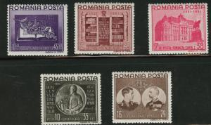 ROMANIA Scott B149-53 MH* Semi-Postal set 1941