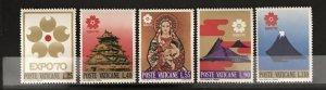 Vatican City 1970, #479-83, MNH, CV $1.25