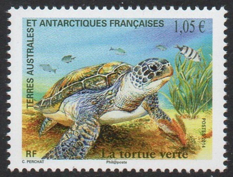 FSAT TAAF 2014 Turtle - Joint Issue with France VF MNH