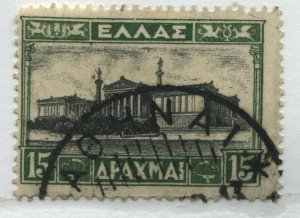 Greece 1934 15 drachmas used