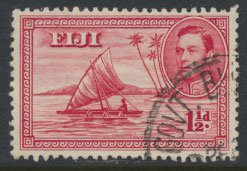 Fiji  SG 252c  Used  1949  definitive see scan