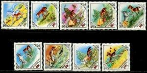 MONGOLIA Sc#1280-1288 1983 Foal & Hare Folktale Complete Set OG Mint NH