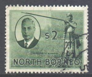 North Borneo Scott 256 - SG368, 1950 George VI $2 used