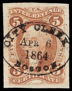 U.S. REV. FIRST ISSUE R24a  Used (ID # 97324)