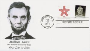 SC 4860, 2014 Abraham Lincoln, FDC, Item 14-027