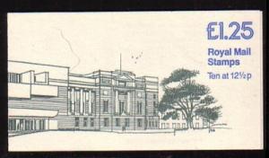Great Britain Sc BK513 £1.25 Belfast Mus stamp bklt